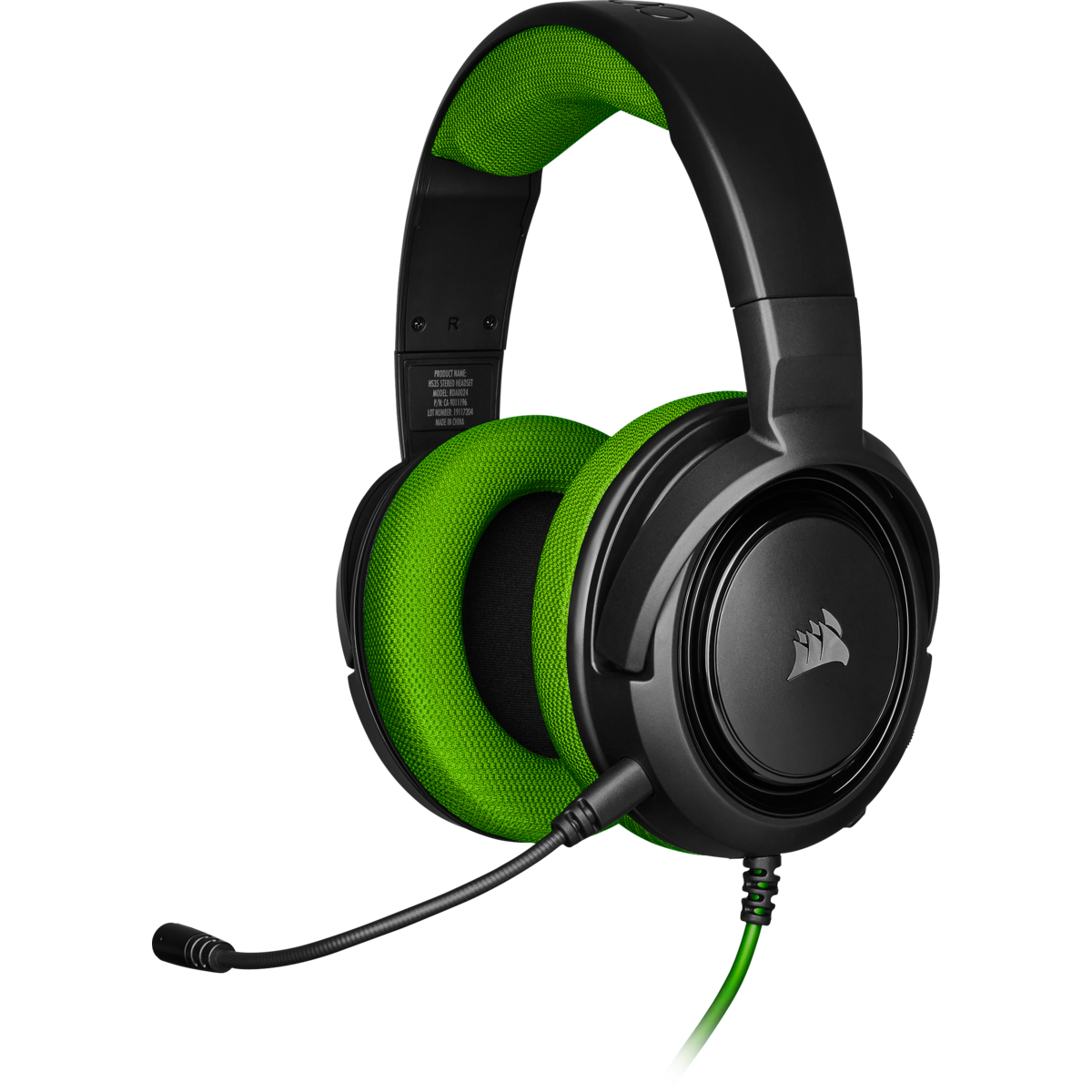 Corsair HS35 Stereo Gaming Headset (Green) for PC image