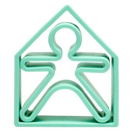 dena: Kid + House - Silicone Toy Set (Pastel Green)