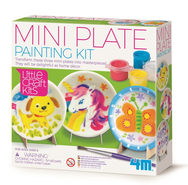 4M: Little Craft - Mini Plate Painting Kit