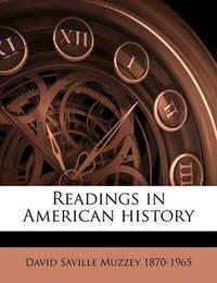 Readings in American History by David Saville Muzzey