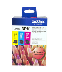 Brother Ink Cartridges LC73CL3PK - 3 Pack (Multi Color)