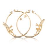 Disney Tinker Bell Hoop Earrings - Gold
