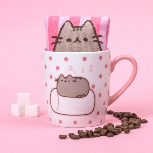 Pusheen the Cat Socks in a Mug - Marshmallow image