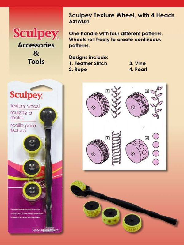 Sculpey Texture Wheel With 4 Heads