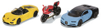 Siku: Sports Cars & Motorbike - Diecast 3-Pack