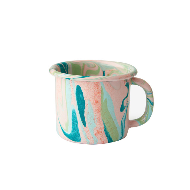 Bornn: Enamel Marble Mug - Blush