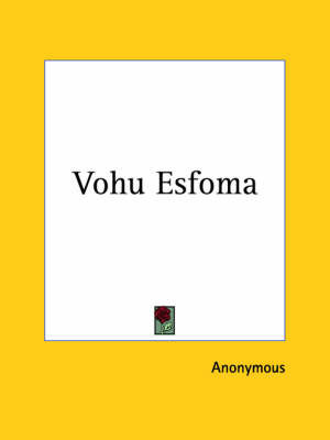 Vohu Esfoma (1927) by * Anonymous