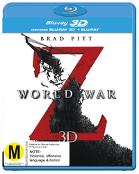 World War Z 3D DVD