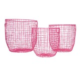 General Eclectic Round Baskets - Pink