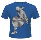 Avengers: Age Of Ultron 'Captain America Splash' Mens T-Shirt - Blue (XXL)