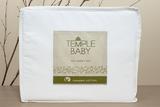 Bambury Cot Baby Temple Organic Sheet Set (White)