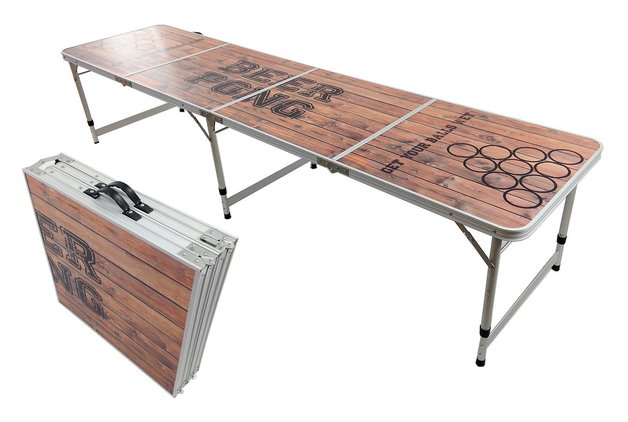 Portable Aluminum Folding Beer Pong Table