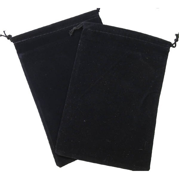 Suede Cloth Dice Bag (Large, Black)