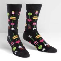 Mens - Gamer Food Crew Socks