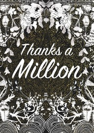 Papaya: Million Moon Foil Greeting Card
