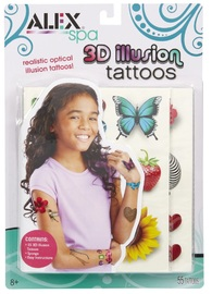 Alex: Spa - 3D Illlusion Tattoos Set