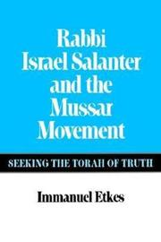 Rabbi Israel Salanter and the Mussar Movement by Immanuel Etkes image