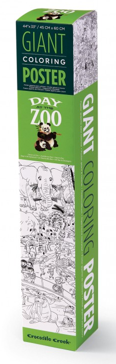 Crocodile Creek: Giant Colouring Poster - Zoo