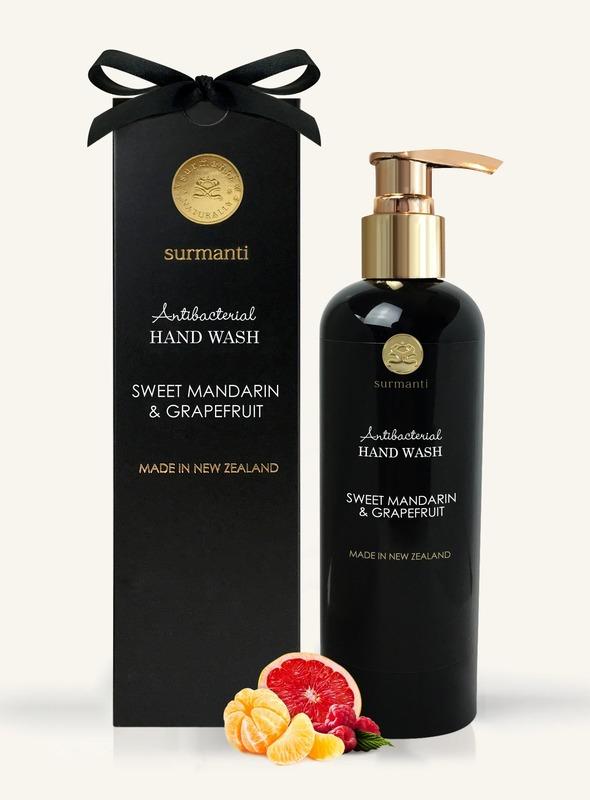 Surmanti Hand Wash Antibacterial Cleanser - Sweet Mandarin & Grapefruit (300ml)