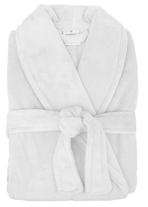 Bambury: Retreat Microplush Robe - White M/L