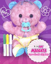 Doodle Bear Baby - Magenta
