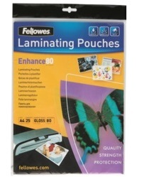 Fellowes Laminating Pouches - A4 - 80 Micron Pack 25 image