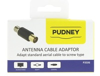 Pudney: Coaxial Plug To F Socket Adaptor