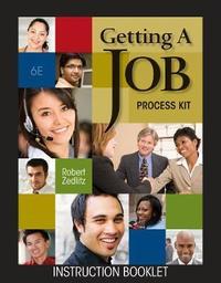 Getting a Job Process Kit by Robert H Zedlitz image