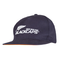 NZ Blackcaps Snap Back Flat Peak Cap