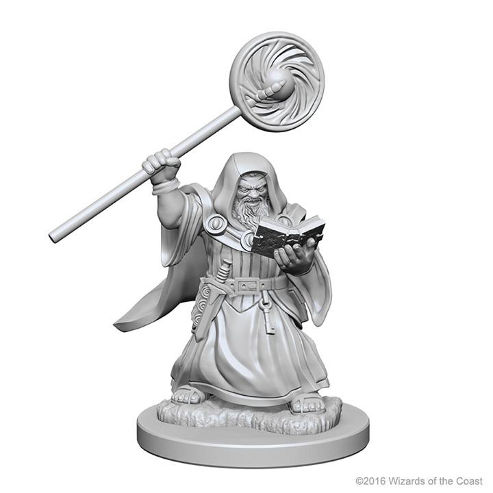 D&D Nolzur's Marvelous: Unpainted Minis - Dwarf Male Wizard image