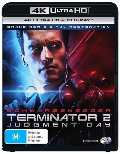 Terminator 2: Judgement Day on Blu-ray, UHD Blu-ray