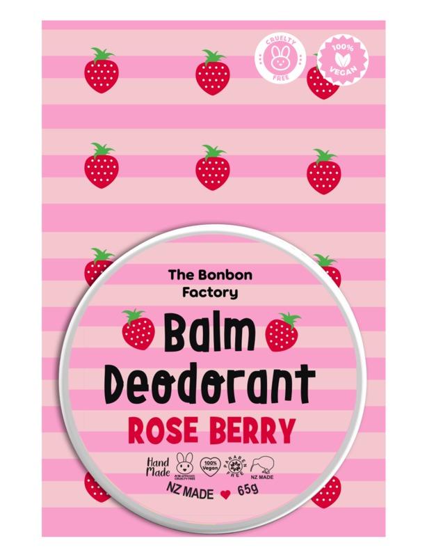 The Bonbon Factory Rose Berry Balm Deodorant