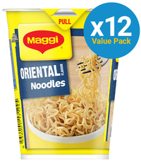 Maggi 2 Minute Cup Noodles - Oriental (58g x 12 Packs) image