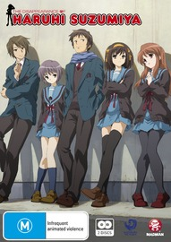 The Disappearance of Haruhi Suzumiya on DVD