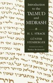 Introduction to the Talmud and Midrash by Hermann L Strack