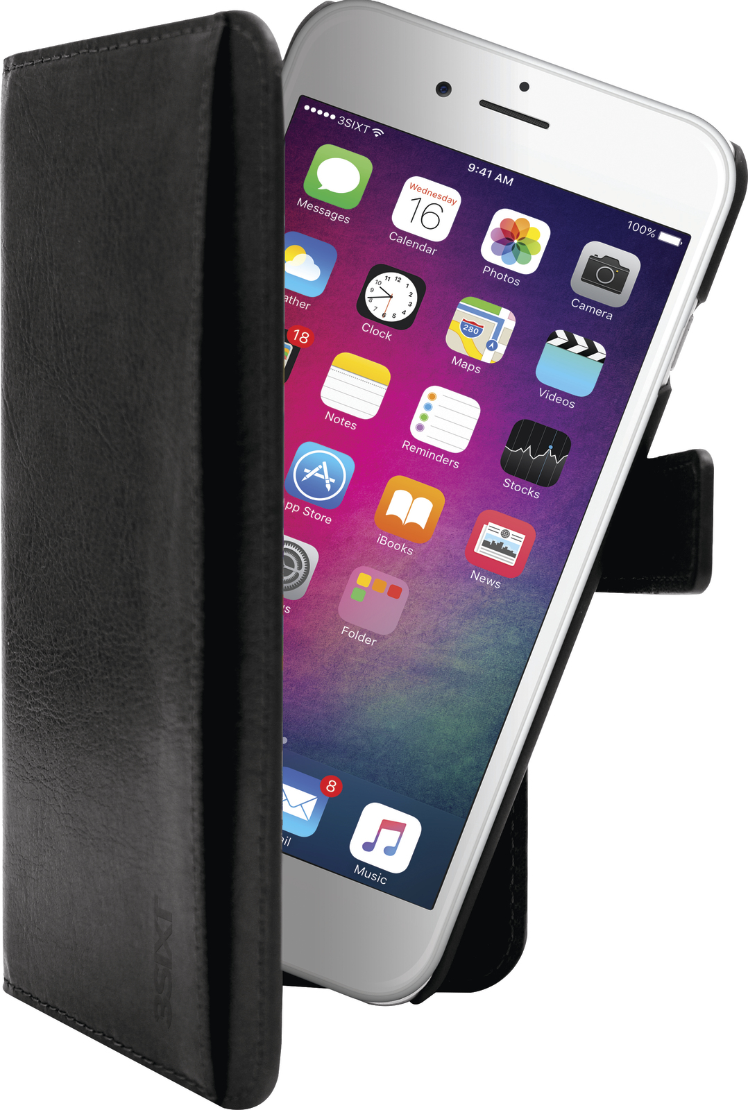 3SIXT Neo Case for iPhone 6/6S/7 & 8 - Black image