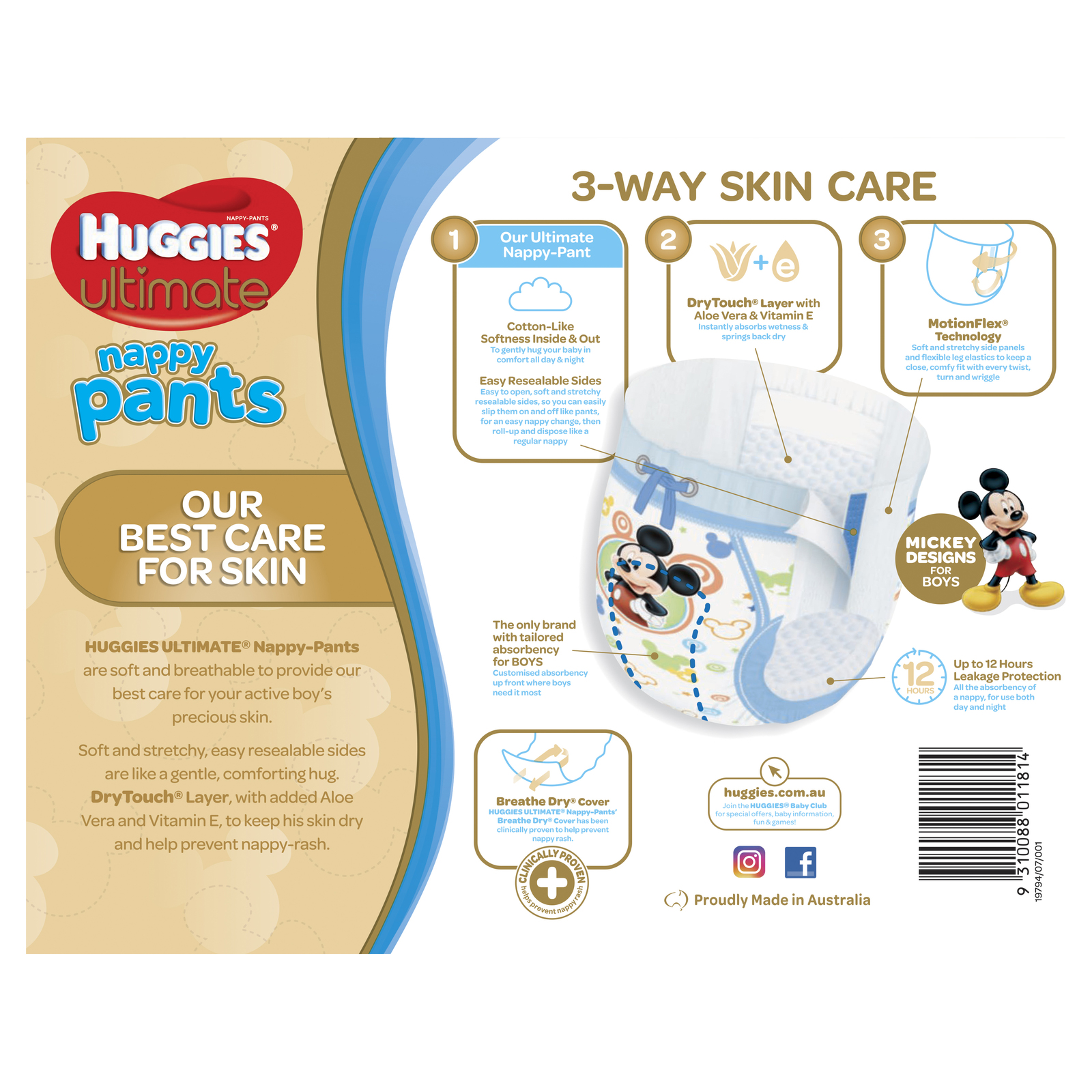 Huggies Ultimate Nappy Pants: Jumbo Pack - Toddler Boy 10-15kg (56) image