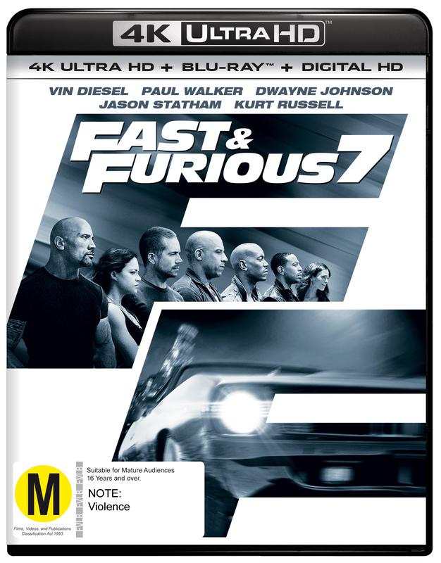 Fast and Furious 7 on Blu-ray, UHD Blu-ray