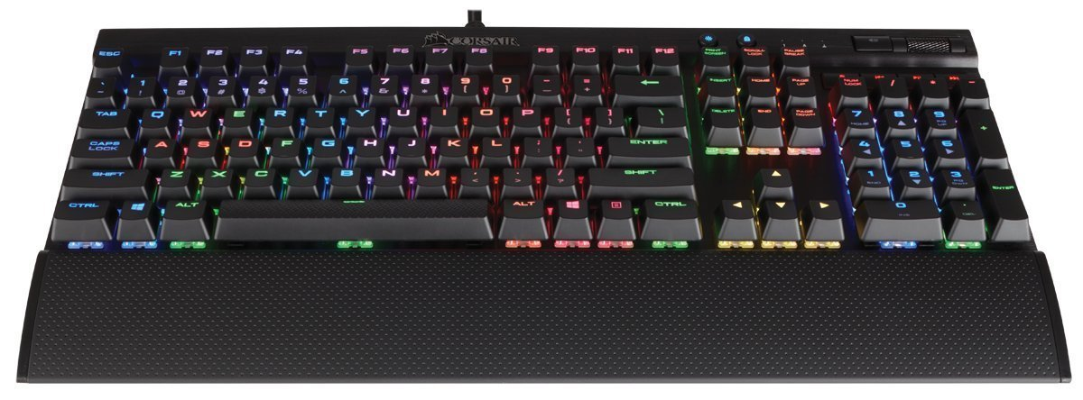 Corsair K70 LUX RGB Mechanical Gaming Keyboard (Cherry MX Blue) for PC Games image