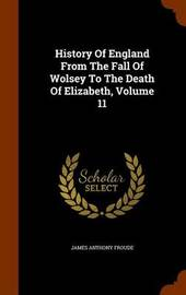 History of England from the Fall of Wolsey to the Death of Elizabeth, Volume 11 by James Anthony Froude image