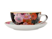 Maxwell & Williams - Cashmere Bloems Coupe Cup & Saucer Black/Blue (250ml)