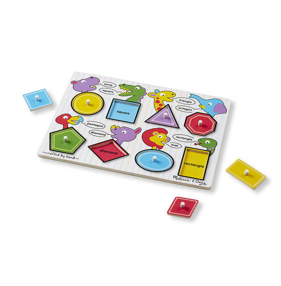 Melissa & Doug: Shapes Wooden Peg Puzzle image
