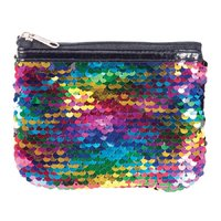 Reversible Sequin Coin Purse - Rainbow
