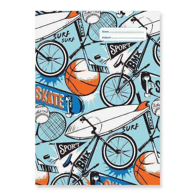 Spencil: A4 Book Cover - Sports Craze