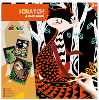 Avenir Scratch Art Kit - Magic Animals