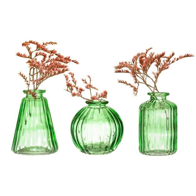 Sass & Belle: Green Glass Bud Vases