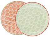 General Eclectic Diva Dinner Plate - Green