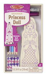 Melissa & Doug: Decorate Your Own - Princess Doll