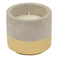 Concrete Citronella Candle - Gold (Small)