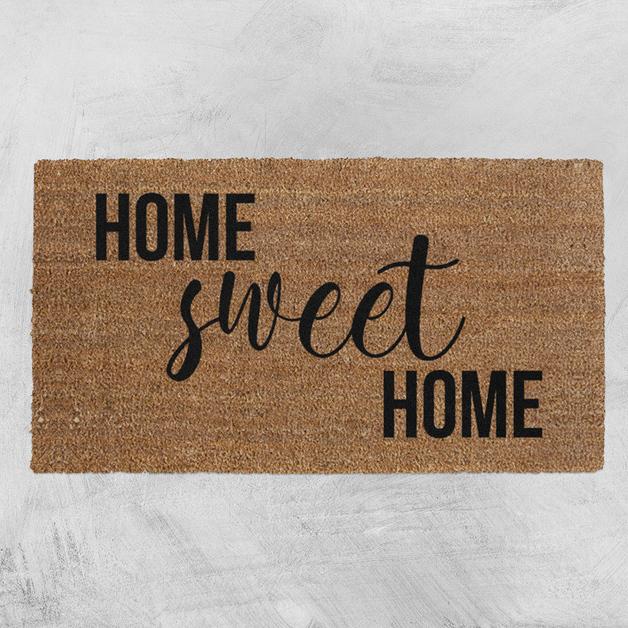 Natural Fibre Doormat - Home Sweet Home